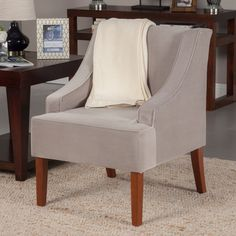 Have to have it. Kinfine USA Swoop Arm Velvet Accent Chair - $145.79 @hayneedle