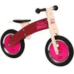 Bicicleta de madera sin pedales Bikloon rosa - Janod