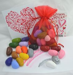 Valentine Gift Bag with 20 colors and a Rubby (Frotter Plate for making your own Valentine Cards)
