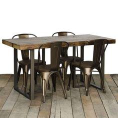 "Urban Wood Goods Uptown Dining Table Size: 30"" H x 40"" W x 96"" L, Top Finish: Espresso"