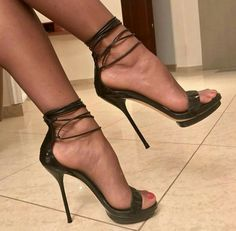 Hundreds of new looks updated every day! Pantyhose Heels, Stockings Heels, Sexy Legs And Heels, Hot High Heels, Talons Sexy, Black Stiletto Heels, Stilettos, Beautiful High Heels, Louboutin