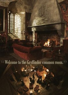 """""""Welcome to the Gryffindor common room."""" – Percy Weasley"""