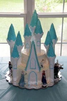 Frozen Castle Cake Using Wilton Castle Cake Kit Loreleis Birthday