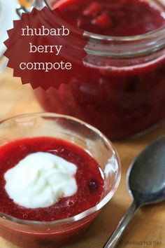 Rhubarb Berry Compote | eyes bigger than my stomach