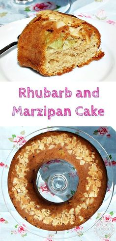 Rhubarb and Marzipan Cake - Fab Food 4 All #rhubarb #marzipan #cake