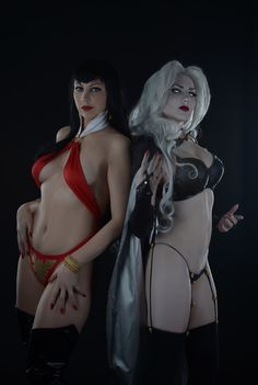 Lady Death and Vampirella by Fiora-solo-top  Follow us on Twitter http://twitter.com/hotcosplaychick
