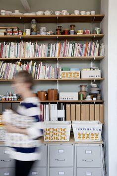 Office/Studio inspiration. (Photo by Jennifer Causey for Sweet Paul Magazine)