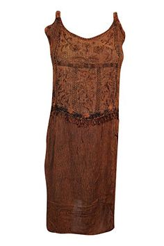 Mogul Women's Brown Strappy Tank Tunic Embroidered Midi D... https://www.amazon.com/dp/B07191F766/ref=cm_sw_r_pi_dp_x_ReRbzbP8M1X0A