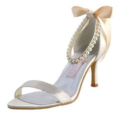Minitoo MZ607 Womens Open Toe High Heel Bridal Wedding Evening Prom White Satin Back Strap Slip Sandals 85 M US >>> You can find more details by visiting the image link.(This is an Amazon affiliate link and I receive a commission for the sales)