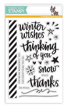 HAND LETTERED WINTER WISHES | Simon Says STAMP! {January 2015 Card Kit} (coll, +, christmascoll, sentimentcoll)