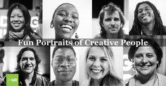 Fun Portraits of Creative People Creative People, Black And White Photography, Portrait Photography, Portraits, Blog, Fun, Movie Posters, Black White Photography, Head Shots