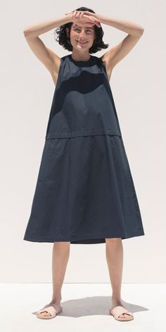 Everlane Clean Cotton A-Line Dress Indian Prints, Hello Summer, Catalog, Midi Skirt, June, High Neck Dress, Couture, Skirts, Projects