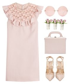 """Missing you...."" by andrea99x ❤ liked on Polyvore featuring Bertoni, Linda Farrow, Giambattista Valli and Valentino"