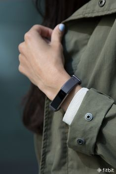 Casual and comfortable, the new indigo leather accessory band for Fitbit Alta HR and Fitbit Alta looks good on everyone.