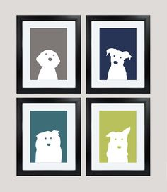 Green, grey, blue, and teal dog prints for baby's room https://www.etsy.com/listing/227413936/printable-navy-blue-and-green-dog-baby