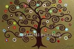 Folk Art Mexican Whimsical Tree of Life Original by prisarts