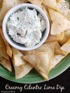 Creamy Cilantro Lime Dip #AppetizerWeek
