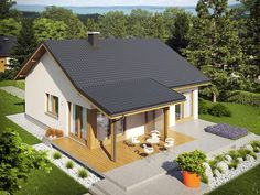 One Floor House Plans, Dream House Plans, Elmo, Wendy House, Small House Design, Good House, Outdoor Furniture Sets, Outdoor Decor, Prefab