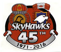 Sky Hawks 45th Anniversary Sticker