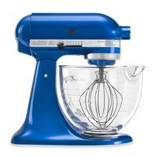 KitchenAid 5-Quart Tilt-Head Designer Series Stand Mixer with Glass Bowl - Electric Blue