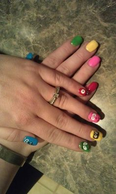 Yo Gabba Gabba nails