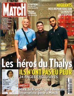 Sur la couverture de Paris Match cette semaine ils sont trois : Spencer, Alek et Anthony, trois copains d'enfance réunis dans un moment de joie à l'ambassade des Etats-Unis au lendemain du drame.
