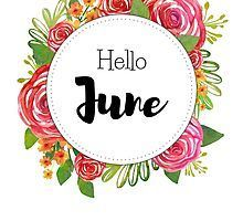 Hello June - monthly cover for planners, bullet journals by Kamila Stankiewicz Bullet Journal Month Cover, New Month Wishes, Thanksgiving Letter, New Month Quotes, Hello January, Happy June, Unisex Baby Names, Bullet Journal Inspiration, Journal Ideas