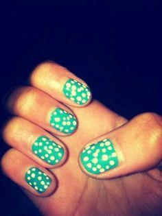 Polka dot nails!!