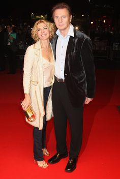 Lonesome: Since her tragic death of his wife Natasha Richardson in a skiing accident in Liam Neeson (pictured with Natasha) has barely dated at all Actor Liam Neeson, Natasha Richardson, Vanessa Redgrave, Cinema, Lucky Ladies, Handsome Actors, Julia Roberts, Special People, Actresses