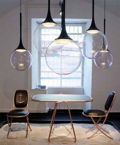 pendelleuchten esszimmer schlichtes skandinavisches design, Deko ideen