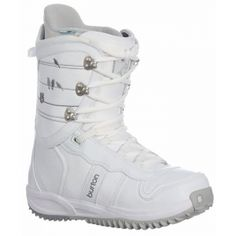 SALE - Womens Burton Lodi Snowboard Boots White Neoprene - Was $169.95 - SAVE $99.00. BUY Now - ONLY $70.95