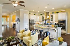 David Weekley Homes in Lakeside at Town Center. #openconcept #kitchen