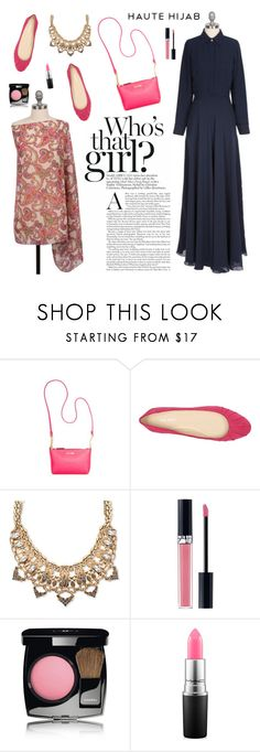 """Haute Hijab 5"" by sabinakopic ❤ liked on Polyvore featuring Calvin Klein, Nine West, Palm Beach Jewelry, Christian Dior, Chanel and MAC Cosmetics"