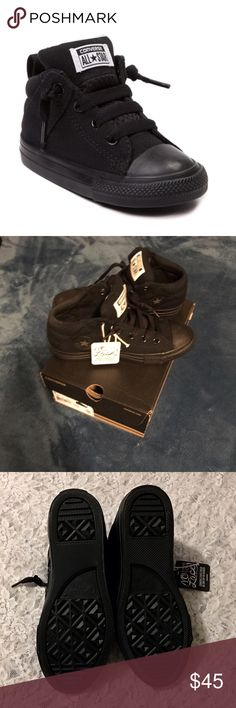👦🏻BOY'S CONVERSE AXLE MID BLACK SZ 3 NWT👦🏻 This is a brand new pair of Converse Mid Axle, Black, NO LACE, Shoes. Very convenient, love these shoes. I bought them for my soon to be 9 year old son to replace a similar, but different style converse. I bought a size 3, forgetting that Converse run big. They are pretty big & I'll have no use for them for a while. I'd like to buy something sooner. 30 FIRM. I paid 45 + tax. Thanks! Converse Shoes Sneakers