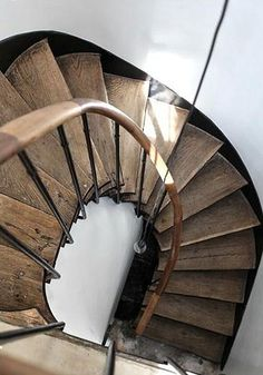 raw wood staircase by the style files