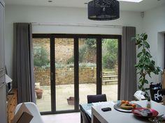 Wave system curtains stacking back neatly on chrome 30mm Silent Gliss Metropole