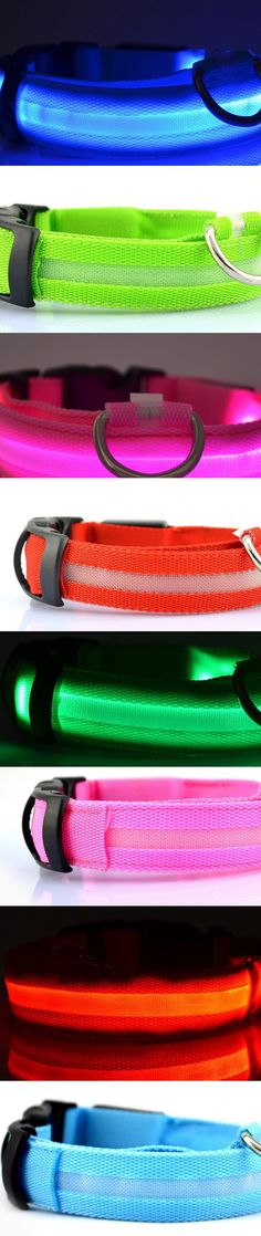 When you walk you Dog or Pug at night you need be concerned for its safety. Not everyone can see that little critter as you walk together.   With this Awesome LED Collar you and your best friend will be seen.  Now available in Red, blue, green, and pink.