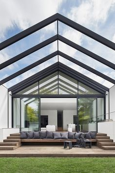 Innovative Architecture, Australian Architecture, Residential Architecture, Interior Architecture, Interior Design, Outdoor Seating Areas, Outdoor Spaces, Indoor Outdoor, Outdoor Living