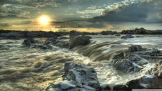 Rocky Stream HDR Ultra HD Desktop Background Wallpaper for UHD TV : Widescreen & UltraWide Desktop & Laptop : Tablet : Smartphone Beautiful World, Beautiful Places, Anime Scenery Wallpaper, Science And Nature, Wonders Of The World, Waterfall, Ocean, Landscape, Outdoor