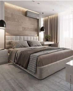 Modern Master Bedroom, Master Bedroom Design, Minimalist Bedroom, Contemporary Bedroom, Bedroom Designs, Master Suite, Modern Contemporary, Simple Bedroom Design, Bedroom Romantic