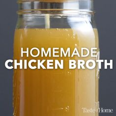 Make Chicken Broth, Chicken Broth Recipes, Soup Recipes, Healthy Recipes, Homemade Chicken Stock, Chicken Soups, Soup Broth, Fat Burning Detox Drinks, Tapenade