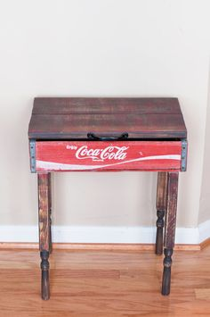 Up-cycled / Repurposed Coca Cola Crate- End Or Side Table
