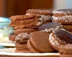 Alfajores de maicena con chocolate