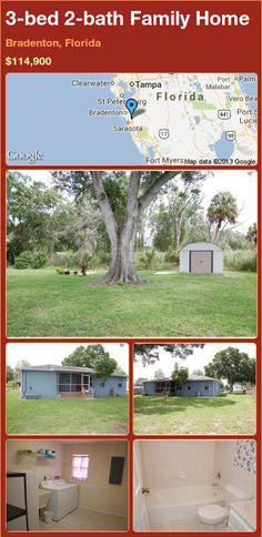 3-bed 2-bath Family Home in Bradenton, Florida ►$114,900 #PropertyForSale #RealEstate #Florida http://florida-magic.com/properties/24709-family-home-for-sale-in-bradenton-florida-with-3-bedroom-2-bathroom