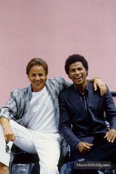 Miami Vice - Promo shot of Don Johnson & Philip Michael Thomas