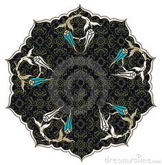 Traditional Ottoman Turkish Tile Illustration