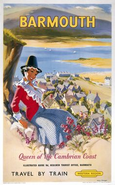 WALES Barmouth, BR poster, 1962.
