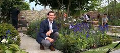 David Neale and the Silent Pool Gin Garden, at the RHS Chelsea Flower Show 2018 - Pumpkin Beth Water Features In The Garden, Garden Features, Chelsea Flower Show 2018, Welcome To Yorkshire, Astrantia Major, Garden Show, Art Techniques, Blue Flowers, Gin