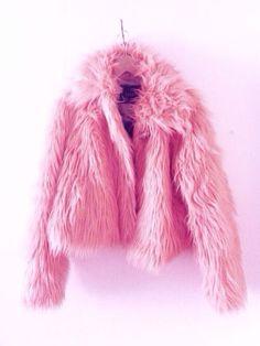 Pink Faux Far Coat