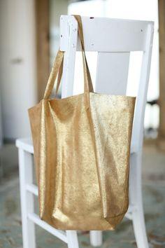 DIY: leather tote bag